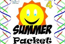4th Grade Summer Packet / 4th Grade Summer Packet. This is a summer packet for students entering fifth grade. Practice during the summer is an important way to reinforce ideas and concepts learned during the past school year.  ENJOY!