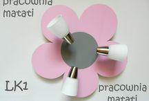 Lampy sufitowe - kwiatki