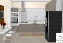Consultorias de decoração online 3D - Cozinha