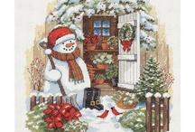 Christmas and winter cross stitch patterns