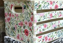 Pintar caixes de fusta