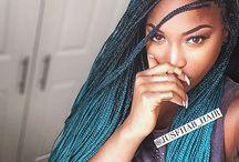 box braids ombre color