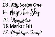 Font Ideas / Some cool fonts