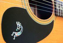 """Decorated Ukulele / inlay sticker """"Decorated Ukulele"""" guitar decals"""