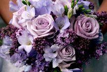 violet bride bouquet