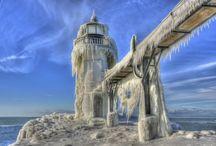 Зима Winter / Зимние пейзажи, строения...