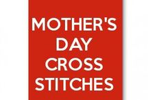 mother's day cross stitches