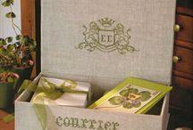 haftowane pudełeczka