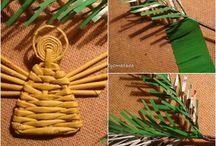 pletení z papíru .. zima-vánoce