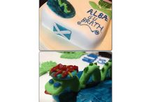 Scotland themed cake