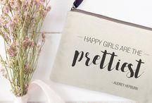 Linen cosmetic bag