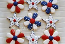 4th of July theme Decorated icing Cookies