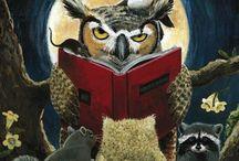 Owl & book
