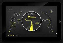 Car Motorcycle dashboard UI