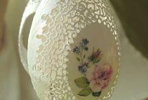 Ażurowa pisanka - openwork carved Easter egg / naturalne skorupki jaj ptaków autor Bogusława Justyna Goleń Poniatowa Lubelszczyzna Polska