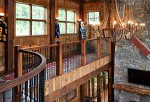 Casa c varanda interior