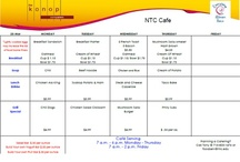 NTC Menus / This is where you will find the weekly menu.