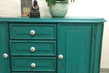 My reloved furniture / Old furniture that have been given a second chance.
