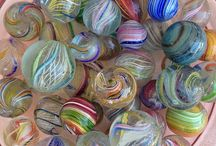 Marbles / Many kinds of marbles! Old and new,