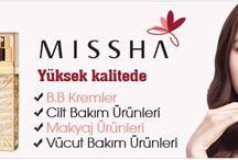 Missha / Makyaj ürünleri, yüz makyajı, göz makyajı, dudak makyajı, ruj, göz kelami, maskara, pudra, fondöten