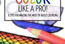 Improve your coloring skills / Follow these adult coloring tutorials to improve your coloring skills and learn new coloring techniques to use in your grown-up coloring books.