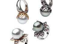 Ring inspirations / Pearls, diamonds, gems
