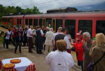 By Train to Lectar Inn for Goulash and Ritoznojčan / Reviving the old tradition from 80 years ago of visiting Lectar Inn in Radovljica, by train from Ljubljana for goulash, rolls and Ritoznojčan wine.