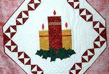 Quilt kaarsen (kerst)