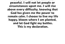 This is my declaration