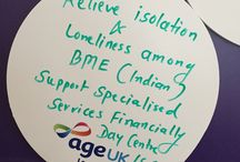 Age UK General Election Rally 2015 / On the 24th March 2015, Age UK invited speakers from the 5 main political parties to set out their policies on issues affecting older people in the UK to an audience of 250 older people. We asked the audience to write the issues that matter to them on our thought wall, here are some of their ideas.