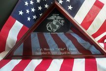 Military Memorial Flag Case / by Forever Yours Glass Etchings