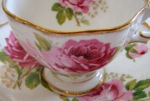 Cups and saucers, and other china