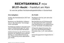 Rechtsanwalt (m/w) / Mandate in der Rechtsberatung  mehr unter www.kanzlei-job.de