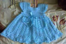 vestdos infantis em croche