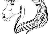 dessin tete de cheval