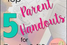 SLP: Parent Handouts / Parent Handouts for Speech Language Pathologists
