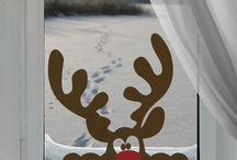 Reindeer on the window
