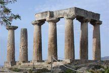Grieken, architectuur, Dorisch / Archaïsch, klassiek en hellenistisch