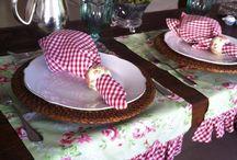 caminos de mesa y manteles