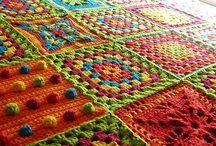 Crochet squares ,Hexagons, Pentagons