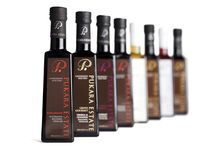 Pukara Estate Vinegars / Deliciously rich, the #Pukara Estate range of #flavoured vinegars, #liqueur vinegars and #balsamic vinegars are magnificent just on their own, or for something truly special combine them with your favourite Pukara Estate extra virgin olive oils to create your very own flavour combination to use as a #vinaigrette or #marinade.