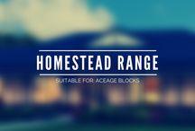 IBN Homestead Range / Our Homestead range is designed for the large acreage sites. The Churchill The Koroit 1 / 2 / 3 The Rosedale The Yarram
