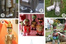 My Fav Tin / Toys and garden decoration