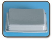 Square Bumpers / The tapered square bumpers consist of the largest surface contact area of our available. See our complete line of square bumper feet here.