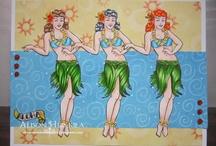 Water world (Pirates, Mermaids, & Hawaii) -- Bombshell Stamps