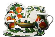 Trentino Italian Dinnerware / Trentino Italian Dinnerware is now available for purchase online or at either of la Terrine's NYC stores. This Italian Dinnerware is hand-painted in Italy, where most of the countries apples are grown. http://www.laterrinedirect.com/made-italy-trentino / by la Terrine
