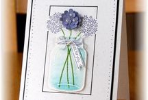 Flowers & Butterflies / Could be birthday cards or any type of project.  No shortage of girly stamps and punches from Stampin' Up!  