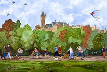 My Glasgow paintings / Some examples of my Glasgow paintings.
