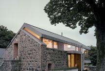 taş ve ağaç ev