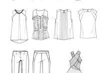 Fachzeichnung Mode